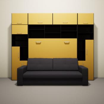 Шкаф диван кровать горизонтальный
