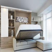 Шкаф кровать с угловым диваном