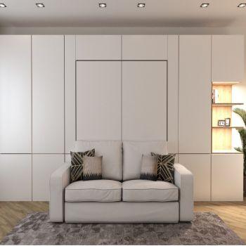 """Кровать трансформер в стене  с  диваном и шкафами """"Урри"""""""
