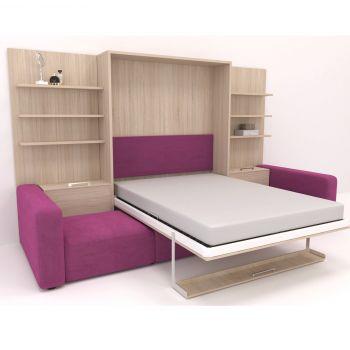 """Шкаф-кровать  с большим диваном """"Пурри"""""""